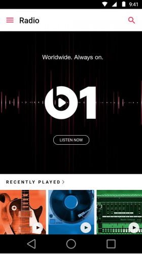 Beats Radio in Apple Music voor Android.