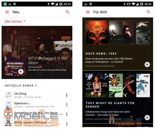 Apple Music voor Android.
