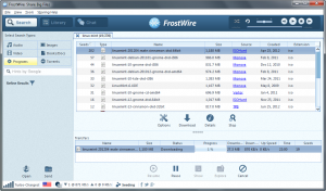 frostwire downloadprogramma muziek downloaden