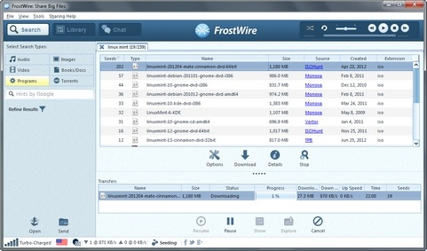muziek gratis downloaden Frostwire software