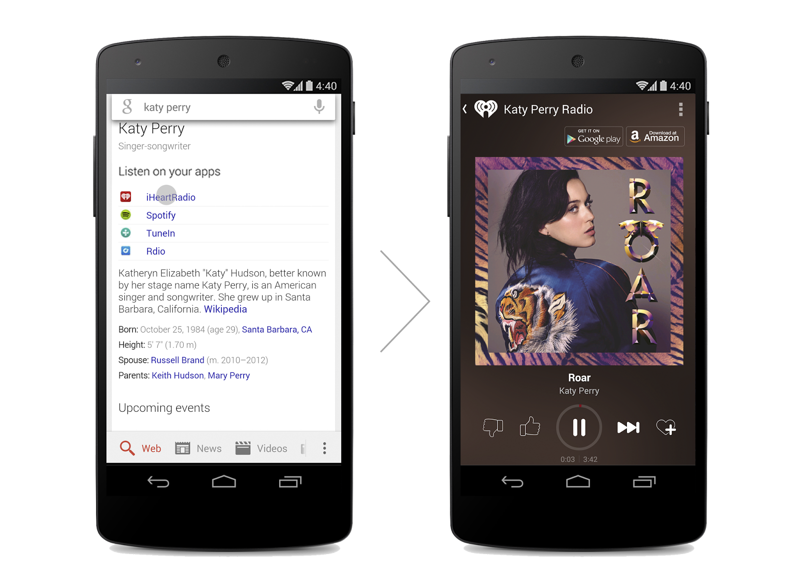 Muziek downloads en streams direct luisteren via Google