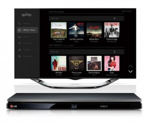 Spotify op smart-tv